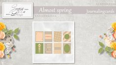 Almost spring journalingcards by Jessica art-design