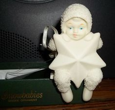 Dept 56 Snowbabies Ornament RETIRED Angel Christmas Tree Swinging on a Star. Have this.
