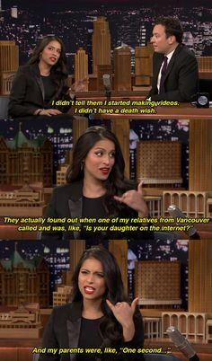 She even talked about how her parents first found out about her videos. | Here's Everything That Went Down When ||Superwoman|| Went On Jimmy Fallon