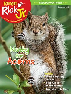Read about animals who go nuts for acorns in the September 2013 issue of Ranger Rick Jr.! www.nwf.org/kids