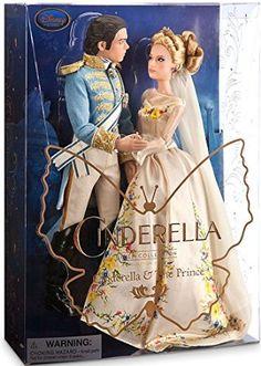 """Disney Princess Cinderella Film Collection Cinderella & The Prince 11"""" Doll [Live Action Version]"""