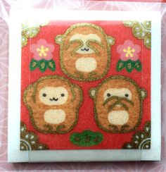 Year of the Monkey 2016 Stickers Japanese by FromJapanWithLove