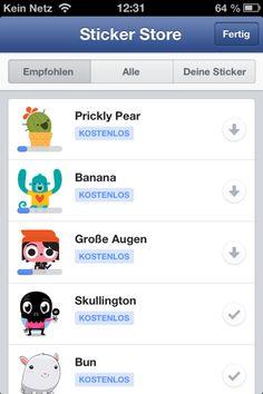 Neue kostenlose Sticker von Facebook