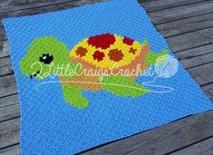 INSTANT DOWNLOAD - Sea Turtle - Sea Animals - Sea Creature - Sea Life - Crochet Graph - Crochet Pattern - c2c Graph - c2c Written - Graphgan