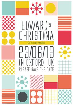 This is a fun Save the Date!