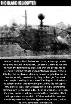 the mystery of the black helicopter