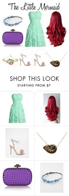 """The Little Mermaid// inspired//"" by elysse-r on Polyvore featuring Daisy Street, Disney, Bottega Veneta, Full Tilt, Les Néréides, women's clothing, women, female, woman and misses"