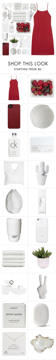 """""""i found my heart and broke it here"""" by perfectly-innxcent ❤ liked on Polyvore featuring Reformation, FRUIT, Case-Mate, Calvin Klein, NARS Cosmetics, Jennifer Haley, CB2, ROOM COPENHAGEN, Linum Home Textiles and Lux-Art Silks"""