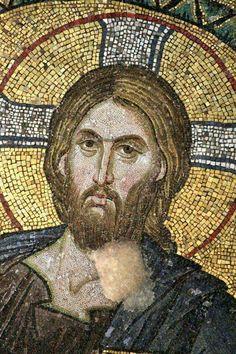 908 + O Jesus, how sorry I feel for poor sinners. Jesus, grant them contrition and repentance. Byzantine Icons, Byzantine Art, Religious Icons, Religious Art, Christus Pantokrator, Sainte Sophie, Mosaic Portrait, Christian Artwork, Art Ancien