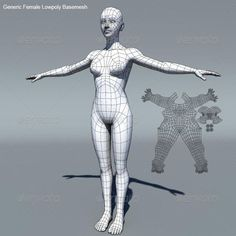 3DOcean Generic Female Low Poly Base Mesh 164887