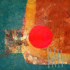 The Old Cells Studio - Michèle Brown Art: Big Red Dot - iPad painting