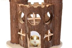 Hamster House Castle Style Wooden House Sleep Pet Cage Room Toy for Exercise Climbing Newest Hamster Cages, Hamster House, Hamsters, Gerbil, Hamster Supplies, Pet Supplies, Pet 5, Pet Cage, Fotografia
