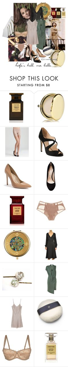 """""""A Strong Elegance"""" by sarahkparker ❤ liked on Polyvore featuring Tom Ford, Estée Lauder, SPANX, éS, L.K.Bennett, GUESS by Marciano, Nicholas Kirkwood, Addiction, Sulwhasoo and Valentino"""