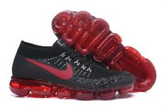 Really Cheap Nike Air VaporMax Flyknit Bred Black Dark Team Red - Mysecretshoes Nike Shoes Men, Running Shoes Nike, Nike Basketball Shoes, Sports Shoes, Shoes Sneakers, Nike Air Vapormax, Cheap Nike Air Max, Men's Outfits, Casual Outfits