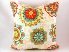 Outdoor/Indoor Pillow Covers ANY SIZE Decorative Pillows Orange Pillow Mill Creek Outdoor Farrington Pizazz