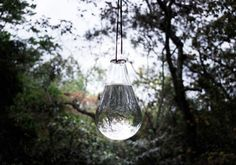 Anti-Fly Glass Sphere with Leather Rope | Remodelista