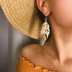 Purchase Two Leaves Rhinestone Long Dangle Statement Stud Earrings Women Party Jewelry from Aofa on OpenSky. Share and compare all Jewelry. Cheap Earrings, Women's Earrings, Jewelry Party, Feather Earrings, Ladies Party, Dangles, Women Jewelry, Beauty Style, Evening Party