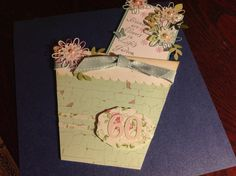 Flower pot card I made for 60th birthday
