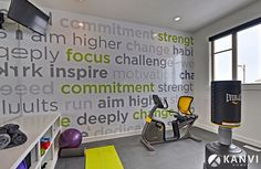 Graphic wall decal is all about keeping you focussed!