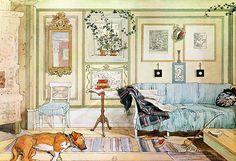 Carl Larsson's living room at Lilla Hyttnäs.