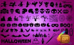 Halloween Silhouettes Vector | Free Vectors Daily | Download High-Quality Free Vectors Daily