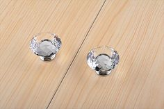Clear Crystal Knobs / Dresser Drawer Knobs Pulls Handles by LBFEEL
