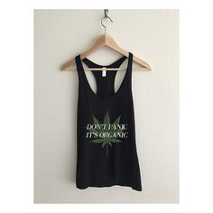 Don't Panic It's Organic Vintage Cannabis Fine Jersey Racerback Tank Top by AvaWilde | Shop this product here: spree.to/38z | Shop all of our products at http://spreesy.com/Jessiesboutique    | Pinterest selling powered by Spreesy.com