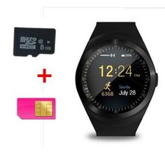 c7325e92f09 Bluetooth Smartwatch Y1 Smart Watch Relogio 2G GSM SIM App Sync Mp3 for  Apple iPhone HTC