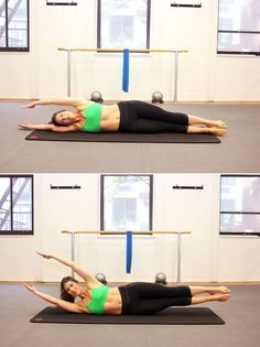 Pilates move for flat abs: banana lifts