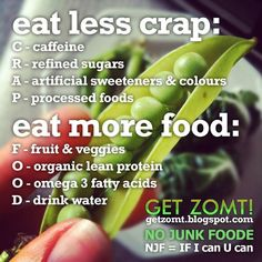 eat less crap, eat more food. clean eating made simple!  www.getzomt.blogspot.com