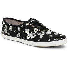 Keds Black Champion Poppy Low Top Sneakers ($30) ❤ liked on Polyvore featuring shoes, sneakers, black, keds shoes, keds sneakers, keds and keds footwear