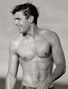 Zac Efron shirtless @Alissa Triplett