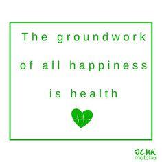 You have one life, one body, take care of it!  💚 #matchalove #matchahealth #ochamatcha