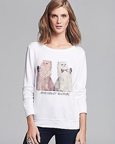 See when WILDFOX Sweatshirt - The Great Catsby | Bloomingdale's is on sale - TrackIf - Worn by Taylor Swift!