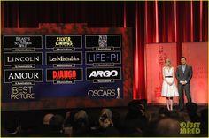 Emma Stone & Seth MacFarlane Announce the Oscar Nominations 2013