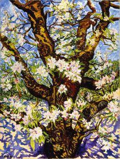 Charley Toorop (Dutch, 1891-1955)  Old Flowering Apple Tree, 1949  Oil on canvas