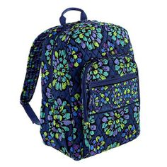 Vera Bradley Backpack- Indigo Pop. I WANT THIS NOW!!!!!!!!!!!!!!!!!! I HAVE TO GET IT!!!!!!!!!!!!!!!!!!!!!!!!!!!!!!!!! ITS THE ONLY BACKPACK I WANT!!!!!!!!!!!!!!!!!!!!!!!