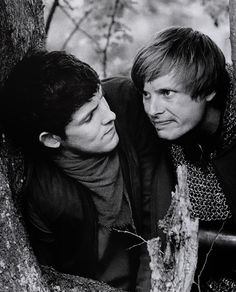 Colin Morgan as Merlin and Bradley James as Arthur Pendregon