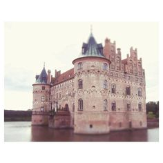 Fairytale Castle 8x10 Art Photo, Travel Boho, Fantasy, Moat, Water... ❤ liked on Polyvore featuring backgrounds, pictures, castles and photos