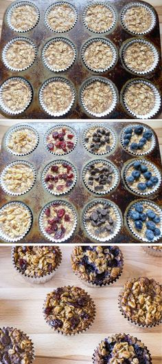 To-Go Baked Oatmeal with Your Favorite Toppings - a perfect make ahead #breakfast @lcollens
