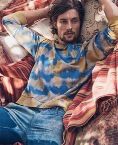 Wouter Peelen embraces the Bohemian life for this Dean Isidro lensed image for Luxury magazine.