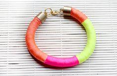 Neon Wrap Bracelet | 40 DIY Bracelets You Need to Check Out