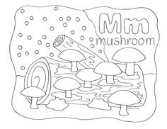 Enjoy Your Free Nature Alphabet Coloring Page Letter M Visit Homeschool Companion To Discover Other Pages