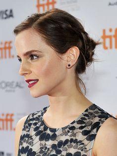 Emma Watson hairline-braided bun