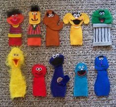 Sesame Street Finger Puppets by littlefox71 on Etsy, $22.50