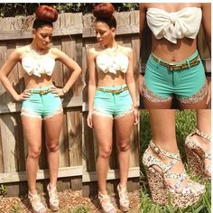 Love these shorts! This Look is My Summer Fashion Outfits, Cute Summer Outfits, Summer Wear, Cute Fashion, Sexy Outfits, Casual Outfits, Cute Outfits, Outfit Summer, Summer Clothes