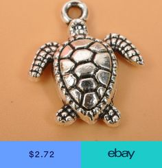 30pcs Charm Tibetan silver Sea turtles pendant beaded Jewelry DIY Findings 18mm