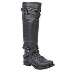 Madden Girl Zerge Vegan Riding Boots. Also in Cognac. #vegan #veganwool