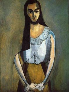 The Italian Woman, 1916, Henri Matisse Size: 116.7x89.5 cm Medium: oil on canvas