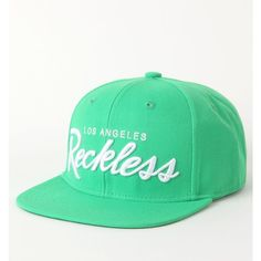 Young & Reckless OG Green Snapback Hat ($28) ❤ liked on Polyvore